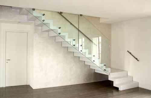 idée d'escalier de design moderne en blanc