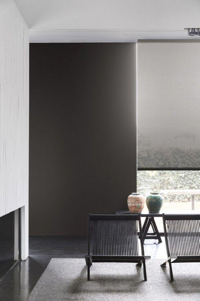 Copahome raamdecoratie rolgordijn semi transparant grijs  / La décoration de fenêtre. Store enrouleurs  gris