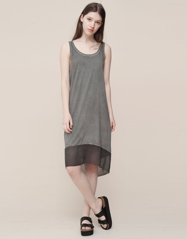 :FADED DOUBLE LAYER DRESS