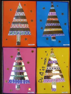 Alambres y mi bolso: Gráficos y árboles de Navidad
