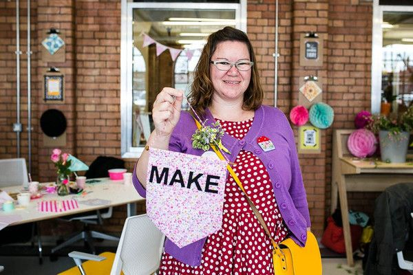 The Make it Sewcial Meet up part 2... capturing the magic – handmade MAKE pennant