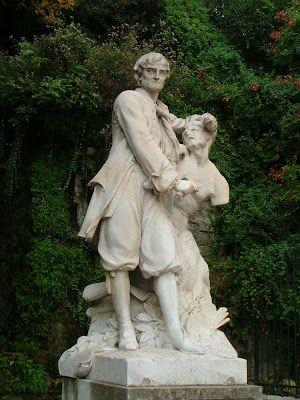 Henri Lombard, Pierre Puget sculptant le 'Milon de Crotone', statue marbre, 1905. Marseille 7ème
