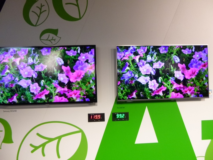The Panasonic ZT60 plasma TV pictured here in an energy consumption comparison. #Wins