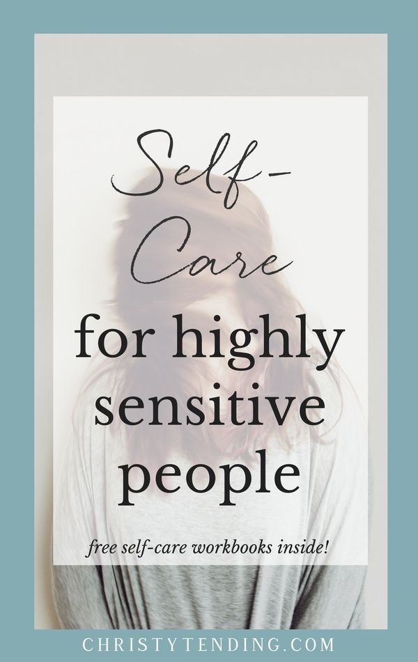 Highly sensitive people (HSPs) need more – and different kinds – of self-care. If you're highly sensitive, learn effective self-care strategies to manage your energy: Self-Care for Highly Sensitive People. Click here to get free self-care workbooks! >> www.christytending.com