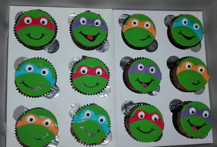 Ninja Turtles Cupcakes, Cakes by Lizzie, Cape Town, South Africa