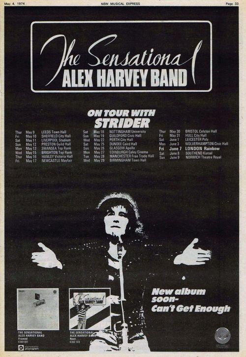 The Sensational Alex Harvey Band UK Tour (1974)