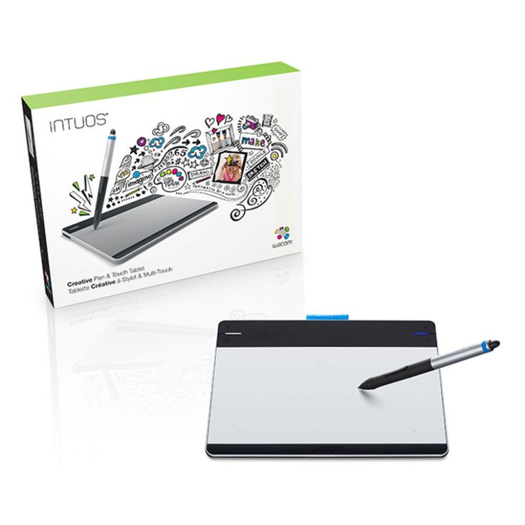 Designed for creativity, Wacom's Intuos Pen & Touch Tablet can be used with scores of creative software applications to edit photos, create artwork, sketch, draw and color digitally. It gives you all the advantages of working with a pen on your computer with the added benefits of a touch surface in the same device.