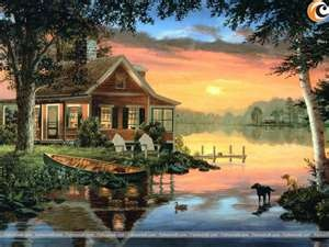Cabin on the lake.... Fred Swan