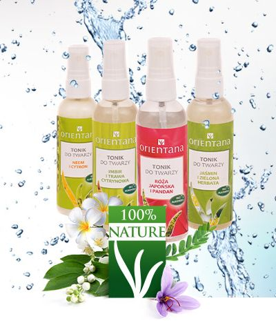 100% naturalne, bezalkoholowe toniki w atomizerze