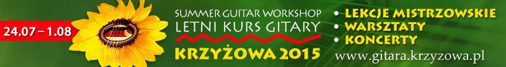 Od 24.07 do 1.08, oprócz szkolenia umiejętności gry na gitarze klasycznej, będzie można uczestniczyć w zajęciach z muzyki rozrywkowej, orkiestry gitarowej, gitary flamenco, techniki fingerstyle... http://artimperium.pl/wiadomosci/pokaz/605,letni-kurs-gitary-w-krzyzowej-profesjonalne-wakacje-dla-gitarzystow#.VYmbWfntmkr