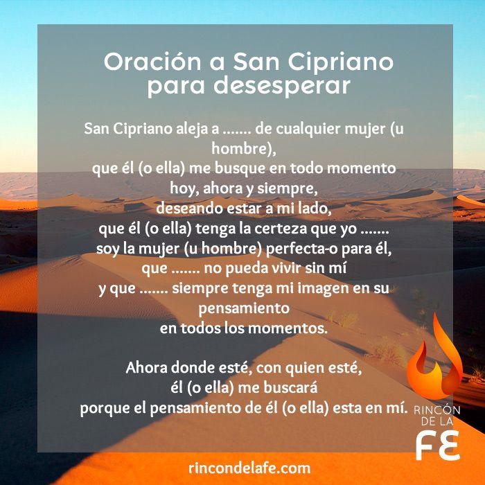 Rézale oraciones de amor a San Cipriano como esta oración a San Cipriano para desesperar y recupera el amor de la persona a la que quieres y deseas.
