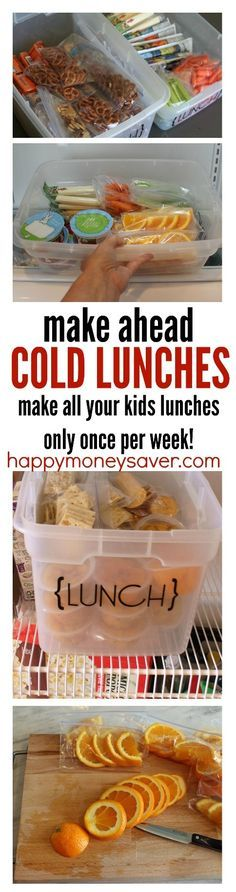 Awesome kids lunch ideas for helping save time. Make all your lunches in one day…