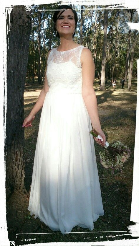 The Chelsey - Wedding Dress Beaded Lace Bodice with Silk Chiffon Skirt