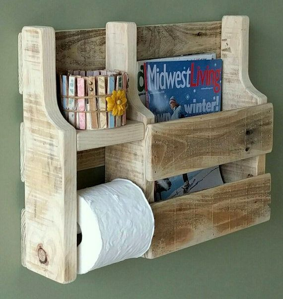 Rustic Magazine Rack Toilet Paper Holder made from by WoodXDesigns   – Phil's id…   – Maison