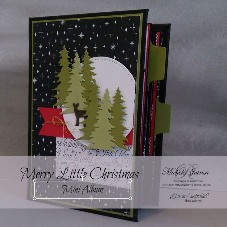 This week I have made something a little different to my usual card..a Mini Album  Mini Album2  Using the new Stampin' Up Designer Series Paper, Specialty designer Series Paper and Memories & More Cards. The front of this album is also my challenge entry for the Global Design Project 106 http://butterflysandbows.com/blog/wp/merry-little-christmas-mini-album/