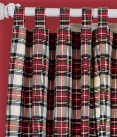 Stewart plaid curtains. I followed the link but could not find these ...