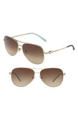42adf0965e7c TIFFANY   CO. Designer Tiffany 59mm Metal Aviator Sunglasses ...
