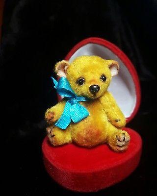 Handmade miniature micro teddy bear OOAK