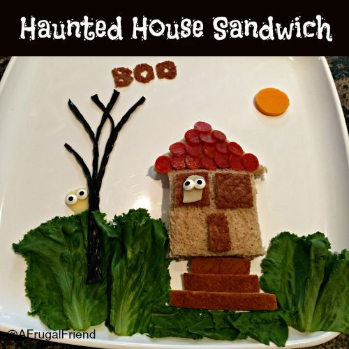 Create this Haunted House Sandwich for Halloween