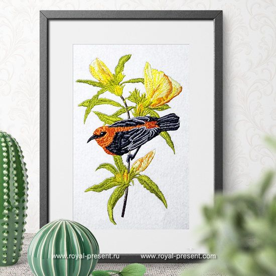 Machine Embroidery Design Beautiful Australian Bird