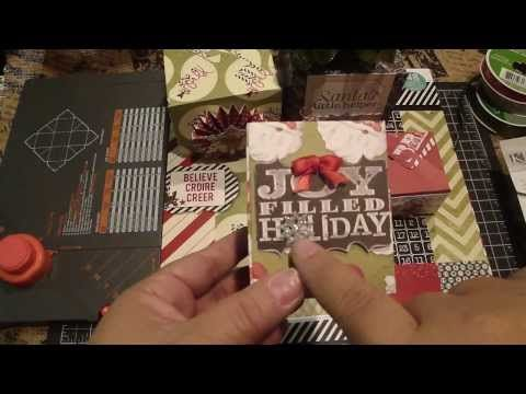 Christmas Gift Boxes~ We R Memory Keepers Gift Box Punch Board