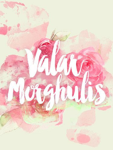 Game of Thrones GOT Valar Morghulis Art Print by PrintsbyAndrea