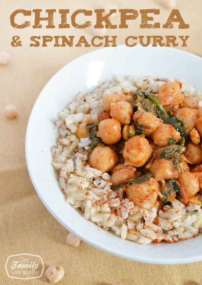 Recipe: Chickpea and Spinach Curry - Family Gone Healthy