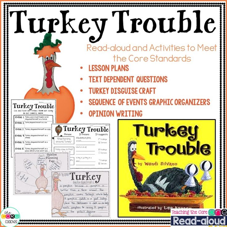 Teach opinion writing with Turkey Trouble this year! Lesson plans, writing templates, and craft included!