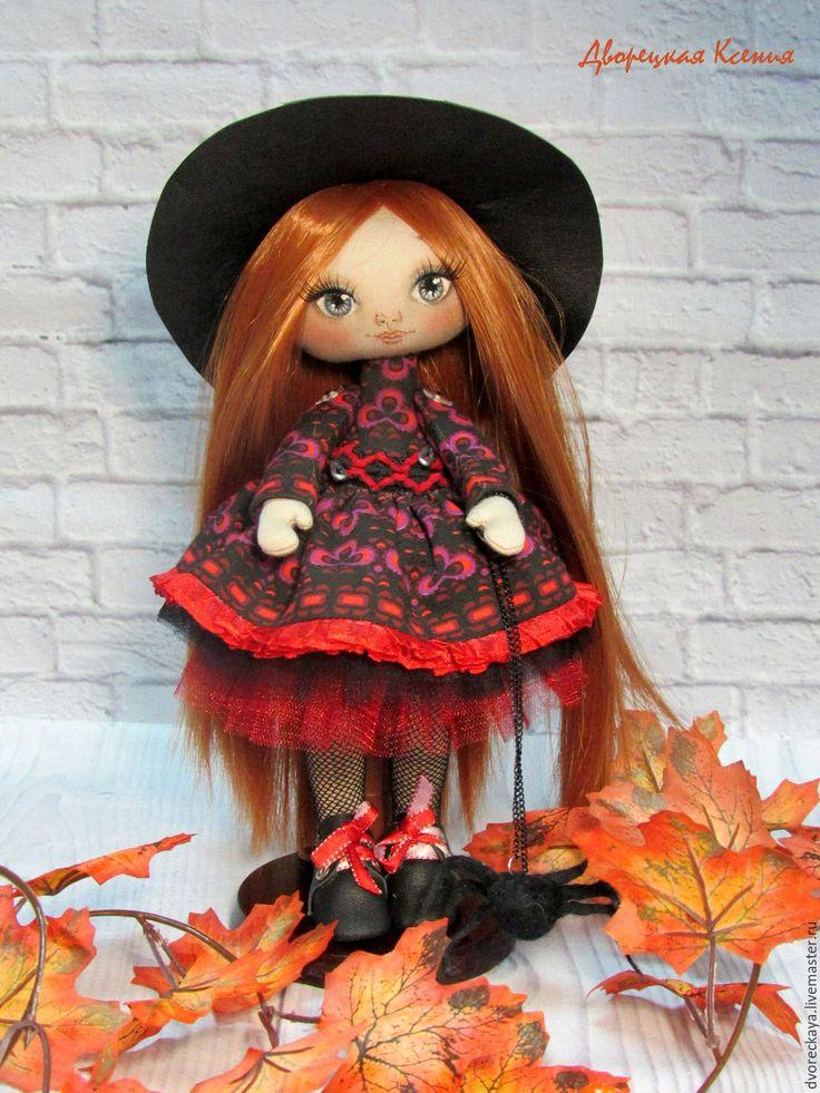 Купить Ведьмочка - рыжий, ведьмочка, купить куклу, хеллоуин, рыжие волосы, паучок, пышные юбки