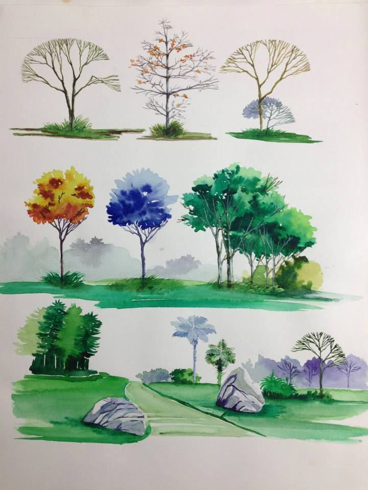 Architecture Drawing Trees 241 best diễn họa images on pinterest | architecture, sketches and