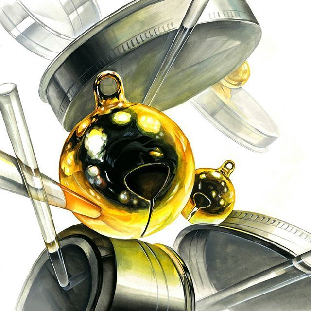 Pit a pat. #기초디자인 #개체표현 #개체 #금방울 #쇠질감 #유리관 #composition #bell #design #drawing #dessin #art #draw