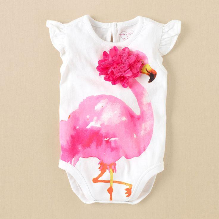 newborn - girls - flamingo bodysuit   Children's Clothing   Kids Clothes   The Children's Place