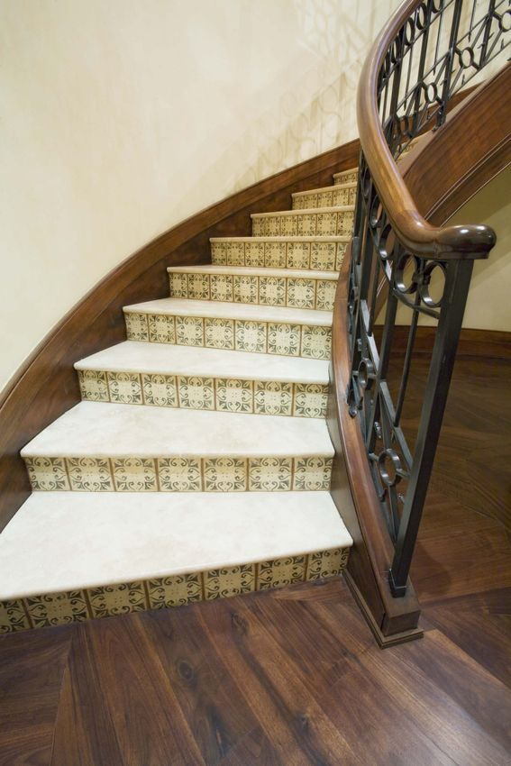 38 Best Images About Terracotta Tile Stair Risers On