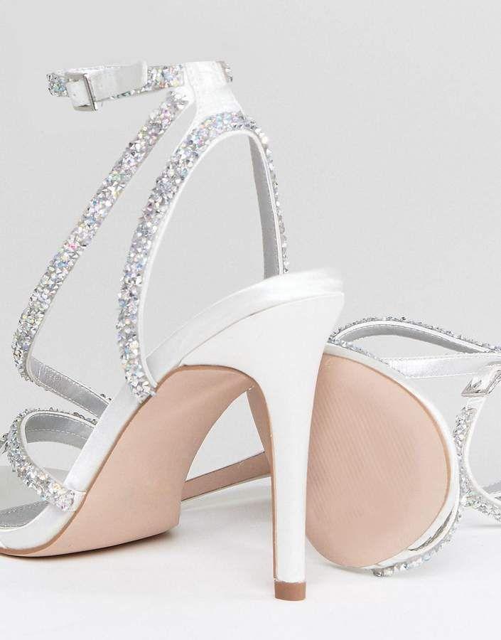 67dc31d0ab57 Asos DESIGN Hypnotic Bridal Embellished Heeled Sandals  Hypnotic DESIGN Asos