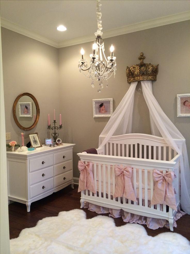 Eva S Elegant Nursery Antique Mirror Linens And Drapery From Restoration Hardware Octo Sheepskin Baby Bedroomnursery Roomgirl