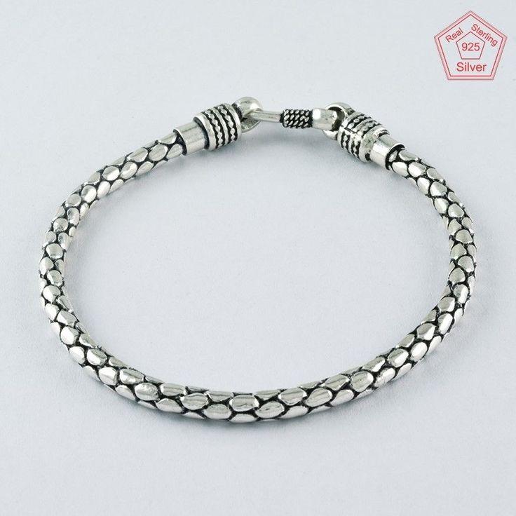FANTASTIC !! FASHION TRENDY DESIGN 925 STERLING SILVER BRACELET BR4373 #SilvexImagesIndiaPvtLtd #Chain