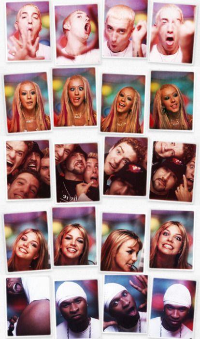 TRL Photo Booth: Eminem, Christina Aguilera, NSync, Britney Spears, Usher