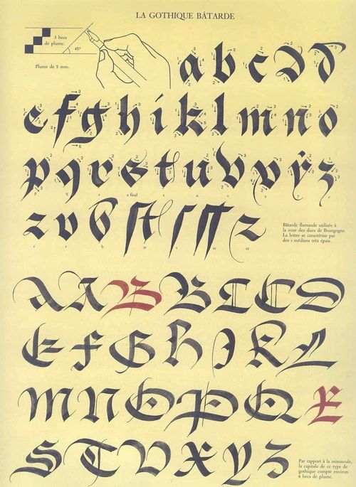 Batarde calligraphy google search