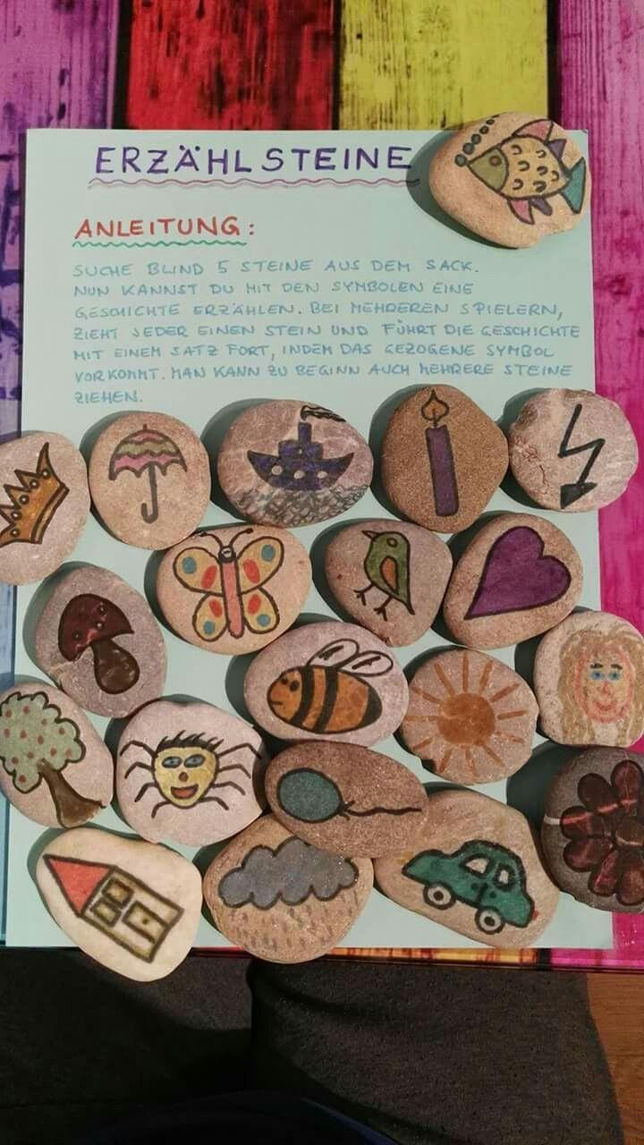 #Erzählsteine bieten viele Sprechanreize – sind diese selbst bemalten nicht zauberhaft? #Kita #Sprachförderung – Betzold Kindergarten