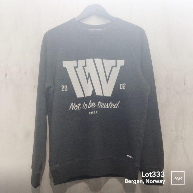 Wood Wood WWSC Sweatshirt @ Lot333. #woodwood #wwsc #premiumcotton #aw13 #sweatshirt in #navy #contemporary take on a traditional #raglan #crewneck #loopbackjersey #vstitch #danishdesign  #mensfashion #fashion #lot333 #menswear #pamapp #bergen #norway