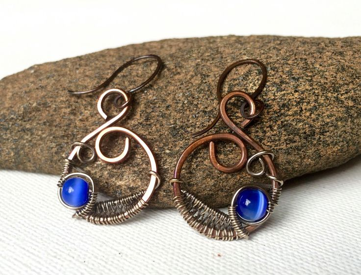 A personal favorite from my Etsy shop https://www.etsy.com/listing/481443317/mixed-metal-wire-wrapped-earrings
