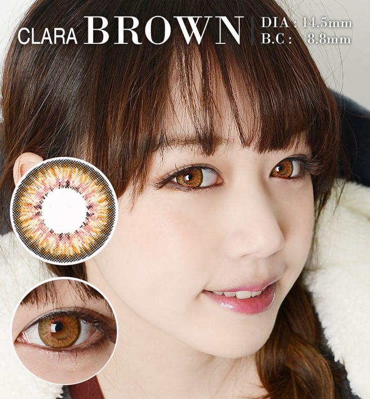 CLARA /14.5mm/ ブラウン /brown /240 ,カラコンセール