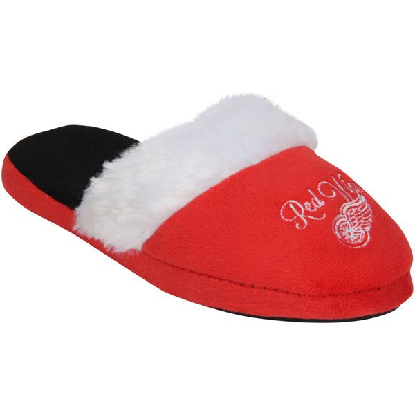 Detroit Red Wings Women's Colorblock Fur Slide Slippers - $19.99