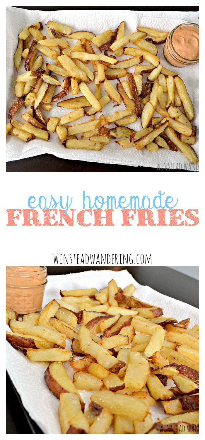 With this crazy recipe, easy homemade French fries are made by placing sliced potatoes in cold oil. They cook as the oil heats up, giving you fries with tender centers and crunchy exteriors.