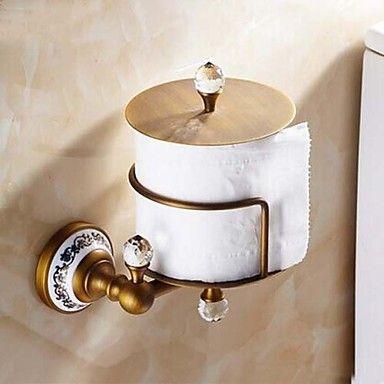 Antique Brass Toilet Roll Holders – DKK kr. 377