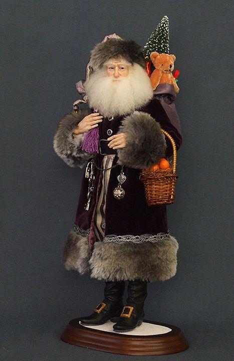 kat soto santa | Santa Doll - Art Dolls - Santa di Cacao by Kat Soto for The Dollsmith