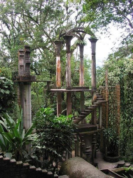 Las Pozas surrealist garden in ; I also like this site. http://www.eyeconart.net/mexico/pozas.htm