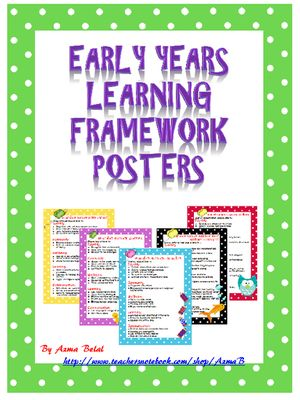 Early Years Learning Framework Learning Through Play Posters from Stress Free Kindergarten on TeachersNotebook.com (18 pages)