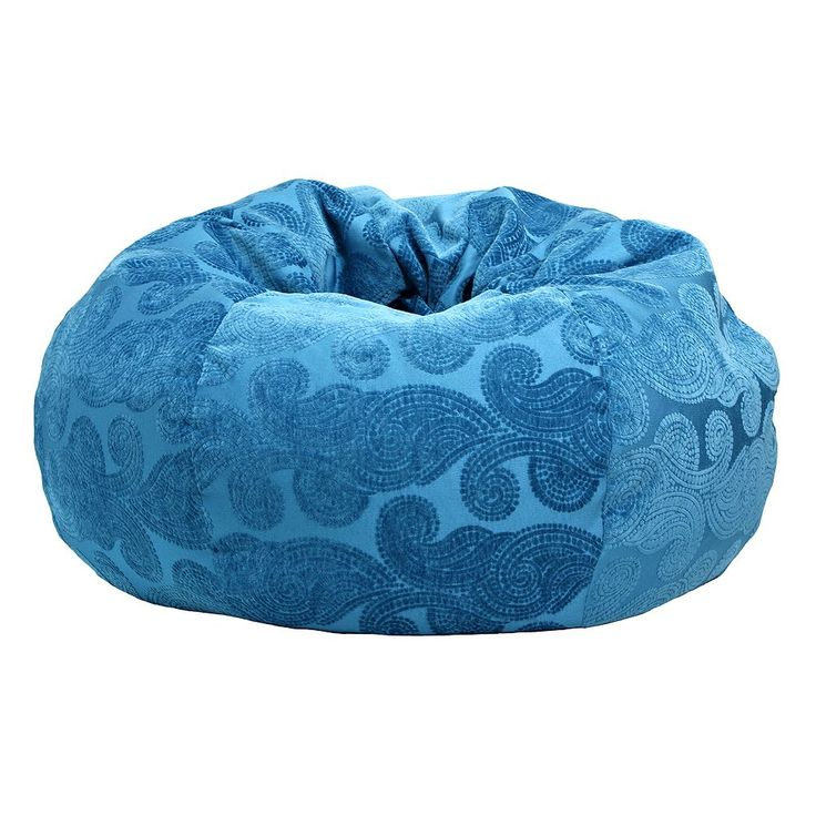 Extra Large Floral Bean Bag Chair, Turquoise/Blue (Turq/Aqua)