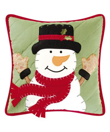 Look at this #zulilyfind! Green Snowplace Like Home Throw Pillow #zulilyfinds